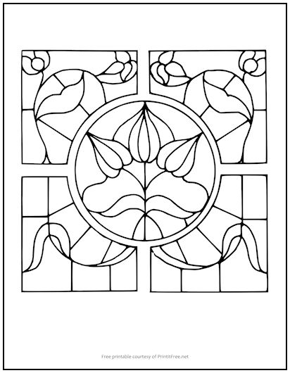 Stained Glass Coloring Page | Print it Free