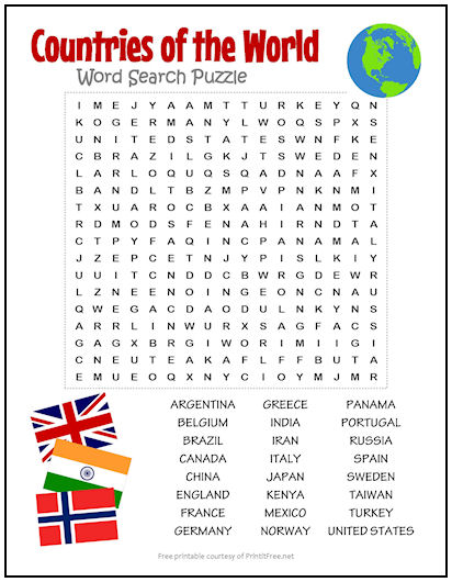 Word search puzzles printable Word Searches